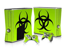 Adhesive Skin Sticker Green Body Decal For XBOX 360 Slim Console and Controller
