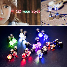 9 Pair Fashion Bling Light Up LED Ear Studs Earrings Accessories For Party Xmas