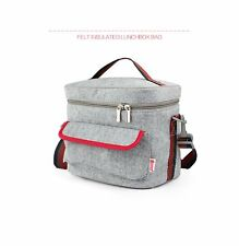 Double-Decked Insulated/Cooler Lunch Box Bag & Felt + Foil & Crossbody Strap
