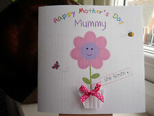 Handmade Personalised Birthday or Mother's Day Card Mummy Nanny Auntie Godmother