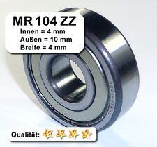 10 Stk. Kugellager 4*10*4mm Da=10mm Di=4mm Breite=4mm MR104ZZ Radiallager
