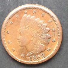 Stati Uniti Civil War Token 1863 Indian Head Not One cent 3969