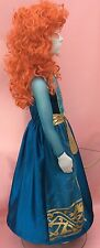 Disney Brave Merida Costume Dress Up Wig Bow arrows and Hooped Skirt Age 9/10 ye