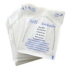 100x Orthodontic Dental Arch Wire Rectangular Copper Nickel Titanium Cu NiTi