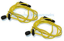 Kayak Paddle Leash -   Fishing Rod Tether YELLOW -  Twin PACK