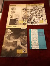 LOT OF 4 OLD VTG BOY SCOUTS BOOKS, 1968 - 1975, ORDER OF THE ARROW, FIRST AID+++