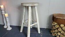 Hand Made Teak Suar Wood Whitewash Bar Stools Minimalistic Natural Beach Tall