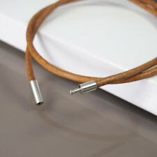 """15"""" 16"""" Inches 40cm Brown Leather Necklace Cord NON Allergy Pewter Connector NEW"""