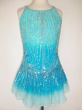 CUSTOM MADE FIGURE NEW ICE SKATING BATON TWIRLING DRESS COSTUME