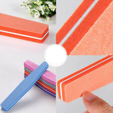 2Pcs Double Sided Manicure Tool Sponge Nail Art Sanding File Buffer Buffing