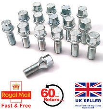 Audi A3 S3 RS3 aftermarket alloy wheel bolts. M14 x 1.5, Taper set of 16