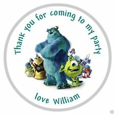 Personalised Monsters Inc Party Bag Stickers