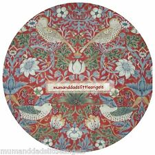 NICE WILLIAM MORRIS STRAWBERRY THIEF D ROUND TABLE MAT PLACEMAT TABLEMAT SERVER
