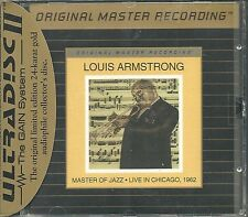 Armstrong, Louis Master Of Jazz  Live In Chicago 1962 MFSL Gold CD  Neu OVP Seal