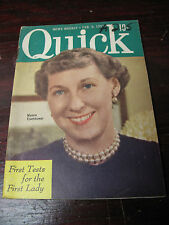 QUICK  NEWS WEEKLY  FEB    1953  MAMIE EISENHOWER  WORLD  FASHION KIRK DOUGLAS