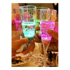 Champagne All Occasions Light Up Wine Glasses Liquid Activated LED colour x 1
