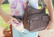 2017 Tan Robland Leather Locking Concealed Carry Gun Pistol Purse Holster L & R