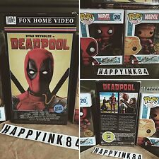 DEADPOOL VHS Funko POP SDCC Exclusives Magazine Rob Liefeld Ryan Reynolds SIGNED