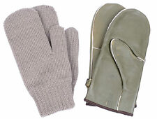 ARMY MITTS / GLOVES - LEATHER & WOOL - NEW - MEDIUM - EXCELLENT QAULITY - 400NQ