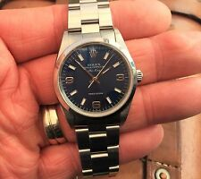 BEAUTIFUL GENTS ROLEX 14000 AUTOMATIC AIRKING WITH STUNNING BLUE DIAL.