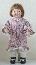 Googlie(Fille)Hertel, Scwab & Co 42 cm Poupée Ancienne Reproduction Antique doll
