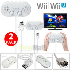 2-Pack Pro Classic Joypad Wired Game Controller For Nintendo Wii/Wii U Remote US