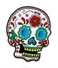 "Adam Potts Sunny Buick Great Candy Sugar Skull 3.5"" h x2.75"" w Embroidered PATCH"