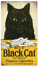 Black Cat Virginia Cigarettes Tobacco Sign