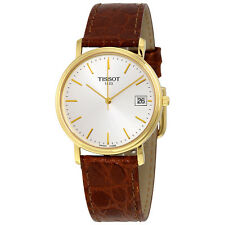 Tissot Classic Desire Silver Dial Brown Leather Mens Watch T52.5.411.31