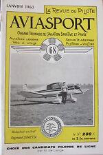 AVIATION REVUE AVIASPORT ANNEE 1960 COMPLETE DES 12 NUMEROS de 68 à 79