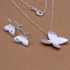 Childrens Xmas Girls Kids Jewelry Set Gift Necklace Earrings 925 Sterling Silver