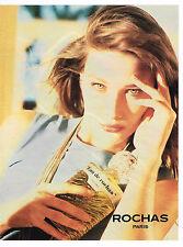 PUBLICITE ADVERTISING 104  1989  ROCHAS  EAU DE ROCHAS parfum eau de toilet