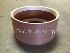 """6X14"""" VINTAGE MAHOGANY SNARE SHELL WITH RE-RINGS, EDGES AND BEDS"""
