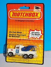 Matchbox Mid 1980s Release MB61 Wreck Truck Peterbilt Police Tow Truck White