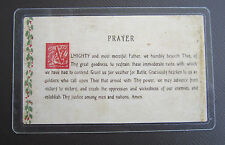 "GENERAL GEORGE PATTON ""FAIR WEATHER FOR BATTLE"" PRAYER CARD with AUTOGRAPH"
