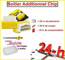 BOITIER ADDITIONNEL CHIP OBD2 TUNING ESSENCE RENAULT LAGUNA 3 1.6 16v 110 CV