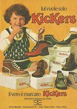 X4674 Lui vuole solo Kickers - Pubblicità 1975 - Advertising