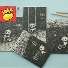 """""""Panda Land"""" Pack of 4 Study Notebook Lined Papers Planner Cute Diary Journal"""