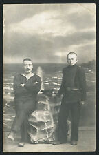 """Russian Imperial Navy Battleship """" Emperor Pavel I """" Sailor Photo Nice Condition"""