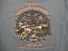 Harley-Davidson Motorcycles Genuine Bedford TX Ft. Worth Gray T Shirt Size L