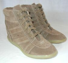 Urban Outfitters Ecote Suede Hi Top Wedge Sneakers size 8.5