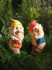 MOONING AND RUDE GARDEN GNOME SET. LATEX MOULD/MOULDS/MOLDS