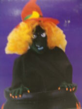 HALLOWEEN ANIMATED  CREEPY WITCH GOES UP DOWN IN CAULDRON W/ORIGINAL BOX MUST C