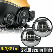 "4.5"" LED Daymaker Projector Auxiliary Passing Lights For Harley Davidson"