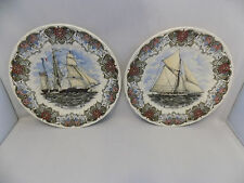 Churchill Currier & Ives  Collector's Plates x 2