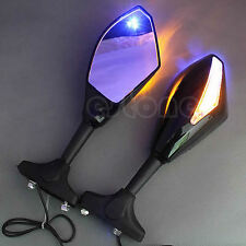 LED Turn Signal Integrated Mirrors For Honda CBR 600 1000 RR Suzuki GSXR New