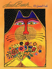 Leanin Tree Greeting Greeted Cat Cards Laurel Burch 12 Set BOX Assortment USA