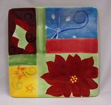 CORSICA HOLIDAY QUILT SQUARE SALAD PLATE