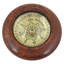 Artshai handcrafted 3 inch magnetic compass made from pure sheesham wood