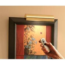 Slimline Polished Brass 8 In. Cordless LED Remote Control Picture Light